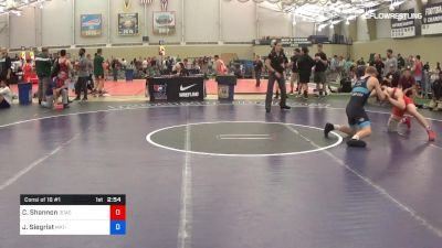 79 kg Consi Of 16 #1 - Colin Shannon, DCAC vs Jared Siegrist, Mat-Town USA