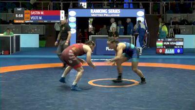 62 kg Mallory Velte, USA vs Marianna Sastin, HUN