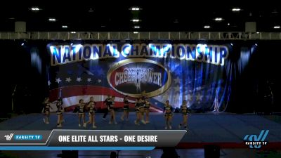 One Elite All Stars - One Desire [2021 L3 Senior Coed - D2 Day 2] 2021 ACP: Tournament of Champions