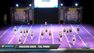 Evolution Cheer - Teal Power [2021 L1 Mini - D2 Day 2] 2021 ACDA: Reach The Beach Nationals