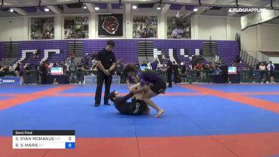 SAMANTHA RYAN MCMANUS vs BRIANNA STE-MARIE 2019 Pan IBJJF Jiu-Jitsu No-Gi Championship