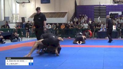 ATHOS RIBEIRO DE MIRANDA vs BRIAN J BEAURY 2019 Pan IBJJF Jiu-Jitsu No-Gi Championship