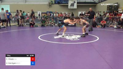 70 kg Consi Of 32 #2 - Evan Cheek, Cleveland State University vs Cole Corrigan, New York City Regional Training Center