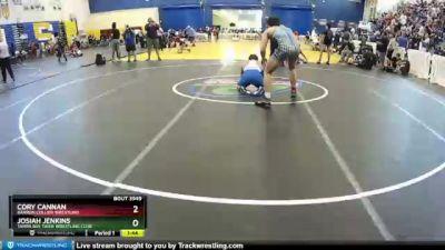 182 lbs Semifinal - Cory Cannan, Barron Collier Wrestling vs Josiah Jenkins, Tampa Bay Tiger Wrestling Club