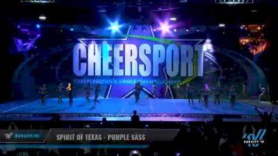 Spirit of Texas - Purple Sass [2021 L3 Senior - Medium Day 2] 2021 CHEERSPORT National Cheerleading Championship