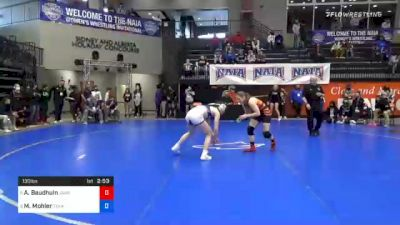 130 lbs Quarterfinal - Alexandra Baudhuin, Jamestown vs Mea Mohler, Texas Wesleyan
