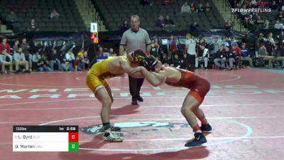 133 lbs Consolation - Lucas Byrd, Illinois vs Drew Marten, Central Michigan