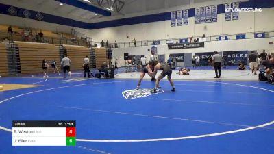 152 lbs Final - Robert Weston, Lassiter/Levelup vs Jackson Eller, Evans High School
