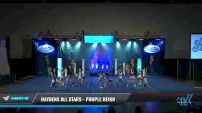 Haydens All Stars - Purple Reign [2021 L1 Junior - D2 - Small Day 2] 2021 Return to Atlantis: Myrtle Beach