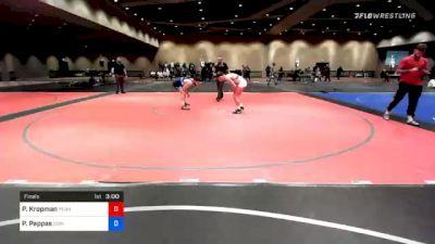 74 kg Final - Parker Kropman, Pennsylvania RTC vs Peter Pappas, Edinboro Regional Training Center