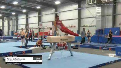 Adrian de los Angeles - Pommel Horse, U.S.O.P.T.C. Gymnastics - 2021 April Men's Senior National Team Camp