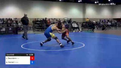 65 kg Consolation - Joshua Saunders, Titan Mercury Wrestling Club (TMWC) vs Anthony Ferrari, Cowboy Wrestling Club