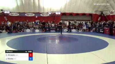 80 kg Rr Rnd 2 - Connor Mirasola, Askren Wrestling Academy Lake Country vs James Rowley, Mat Sense Wrestling