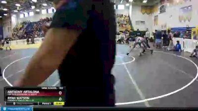 152 lbs Cons. Round 3 - Ryan Watson, Cowboys Wrestling Club vs Anthony Artalona, Top Gun Wrestling Academy