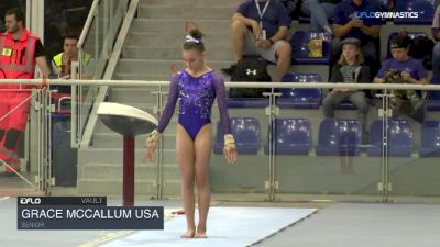 Grace McCallum USA - Vault, Senior - 2018 City of Jesolo Trophy
