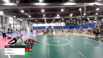 125 lbs Rr Rnd 2 - Jasper Harper, Illinois American Gladiators vs Graeden DeMario, LWA Elite