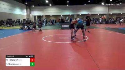 160 lbs Consolation - Noah Mittendorf, Bronco Wrestling Club vs Talen Thompson, Georgia