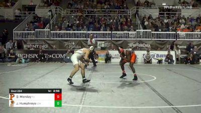 157 lbs Final - Quincy Monday, Princeton vs Josh Humphreys, Lehigh