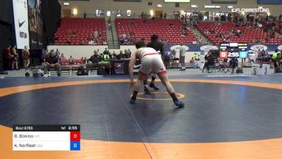 86 kg Cons 8 #2 - Brian Bonino, New York City Regional Training Center vs Kordell Norfleet, ASU Wrestling