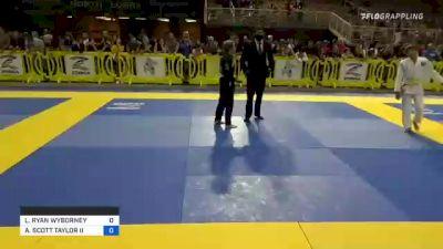LUKE RYAN WYBORNEY vs ANDREW SCOTT TAYLOR II 2021 Pan Kids Jiu-Jitsu IBJJF Championship