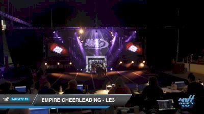 Empire Cheerleading - LE3 [2019 Senior - D2 3 Day 2] 2019 US Finals Pensacola