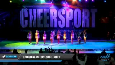 Louisiana Cheer Force - Gold [2021 L6 Senior Coed - XSmall Day 1] 2021 CHEERSPORT National Cheerleading Championship