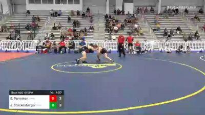 120 lbs Semifinal - Ethan Perryman, Team Carnage vs Jett Strickenberger, Team Shutt North