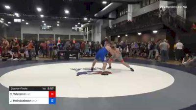125 kg Quarterfinal - Colby Whitehill, Mat Town USA vs Joshua Heindselman, Oklahoma Regional Training Center
