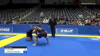 PIERRE-OLIVIER LECLERC vs JAMES MICHAEL NAKASHIMA 2021 World IBJJF Jiu-Jitsu No-Gi Championship