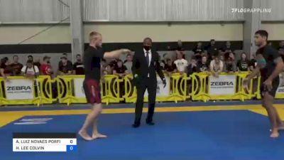 ANDRÉ LUIZ NOVAES PORFIRIO vs HUNTER LEE COLVIN 2021 Pan IBJJF Jiu-Jitsu No-Gi Championship