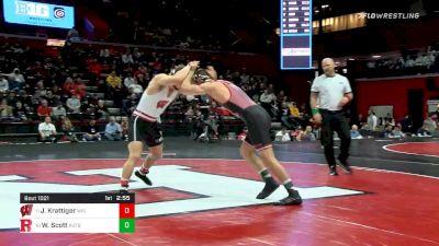 174 lbs Semifinal - Jared Krattiger, Wisconsin vs Willie Scott, Rutgers