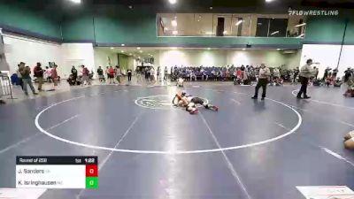 132 lbs Round Of 256 - Joshua Sanders, GA vs Kyshin Isringhausen, MO