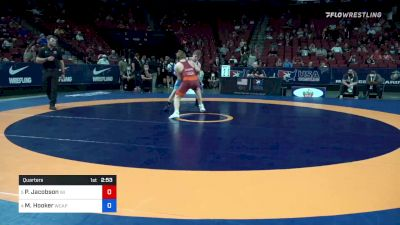 72 kg Quarters - Payton Jacobson, Wisconsin vs Michael Hooker, Army (WCAP)
