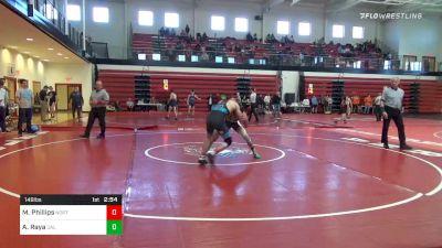 149 lbs Semifinal - Mason Phillips, North Carolina vs Aj Raya, Cal Baptsit