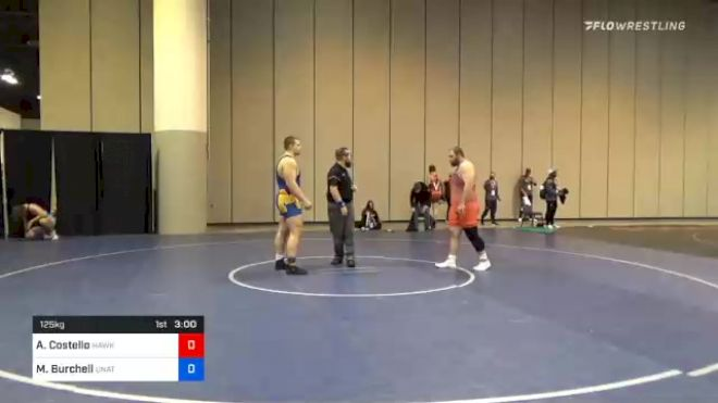 125 kg Consolation - Aaron Costello, Hawkeye Wrestling Club vs Michael Burchell, Unattached