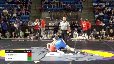 120 lbs Final - Tucker Owens, Mustang vs Jeremiah Reno, Liberty