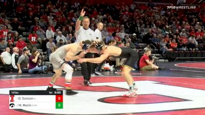 141 lbs Consolation - Dylan Duncan, Illinois vs Max Murin, Iowa