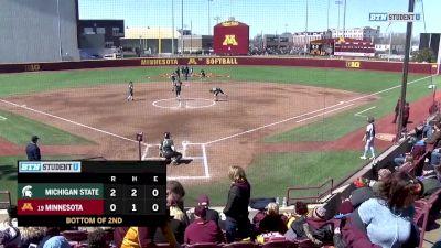 Full Replay - 2019 Michigan State vs Minnesota | Big Ten Women's Softball - Michigan State vs Minnesota | Softball - Apr 14, 2019 at 3:13 PM EDT