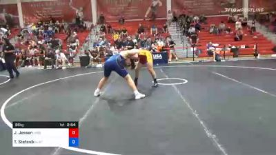 86 kg Consolation - Jack Jessen, Wildcat Wrestling Club vs Travis Stefanik, New Jersey RTC
