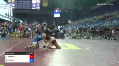132 lbs Consi Of 32 #2 - Cody Phelps, Wyoming vs Matteo Vargo, Indiana