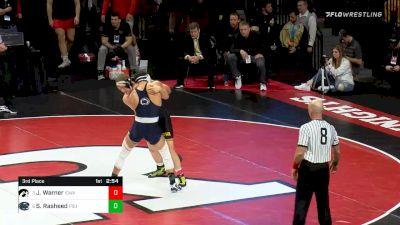 197 lbs 3rd Place - Jacob Warner, Iowa vs Shakur Rasheed, Penn State