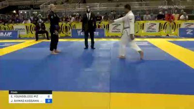 ELIJAH YOUNGBLOOD PIZARRO vs JACOB AHMAD KASSAMA 2020 Pan Jiu-Jitsu IBJJF Championship