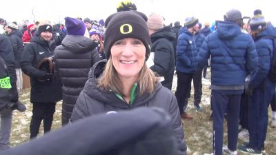 Oregon's Helen Lehman-Winters After A Podium Finish For The Ducks