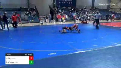 73 lbs Consolation - Jebarie Hay, Social Circle USA Takedown vs Donavon Randolph-spry, Jackson County Wrestling Club