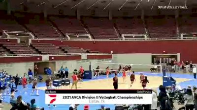 Angelo State vs Tampa - 2021 AVCA Division II Women's Volleyball Championship