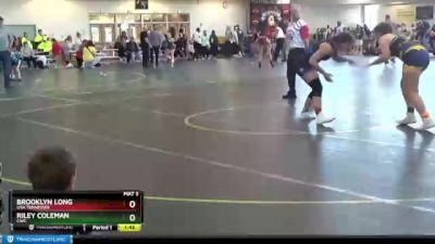 200 lbs Round 2 - Shilah Love, Junior Kahoks Wrestling Club vs Madison Baldridge, Unattached