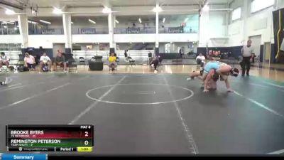 195 lbs Round 9 (10 Team) - Remington Peterson, Team Shutt vs Brooke Byers, TS Dethrone
