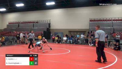 85 lbs Prelims - Canon Acklin, Team Shutt (PA) vs Asher Cunningham, M2 Training Center (PA)