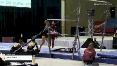 Isabel Goyco - Bars, Texas Woman's University - 2021 Metroplex Challenge