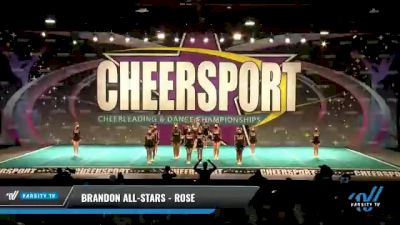 Brandon All-Stars - Rose [2021 L3 Youth - Small Day 1] 2021 CHEERSPORT National Cheerleading Championship